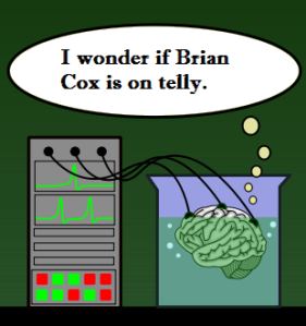 """If a brain in a jar thinks it watched """"Take Me Out"""", will it still experience the irreversible damage?"""